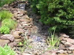 75 relaxing garden and backyard waterfalls
