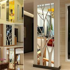 Modern Mirror Style Removable Decal Tree Art Mural Wall Stickers Room Decor Us For Sale Online Ebay