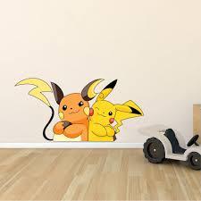 Design With Vinyl Pokemon Pikachu Cute Anime Cartoon Character Wall Decal Wayfair