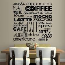 Amazon Com Stickersforlife Wall Vinyl Sticker Decals Decor Art Kitchen Design Mural Pattern Coffee Sign Quote Lettring Wording Words Latte Cup Hot Z3081 Home Kitchen
