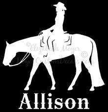 Personalized Western Pleasure Horse Rider Vinyl Decal Sticker Etsy