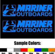 For Mariner Outboards Vinyl Decal Pair Car Stickers Aliexpress