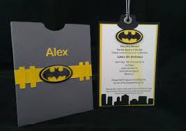 Batman Themed Invitation Www Pepperlyroseinvitations Com Au