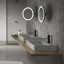 illuminated bathroom mirrors a