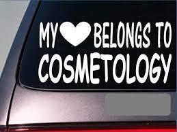 Amazon Com My Heart Belongs Cosmetologyi011 8 Sticker Decal Makeup Artist Hair Stylist Automotive