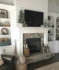 decorate a mantel with a tv above