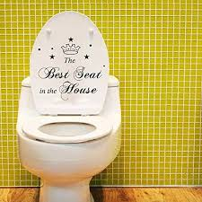 Toilet Seat Decal Funny Reminder Decoration Bathroom Sticker Best Seat You Can Get More Details By C Bathroom Vinyl Bathroom Stickers Wall Stickers Toilet