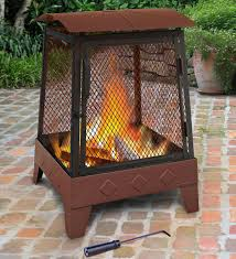 outdoor patio haywood fire pit with