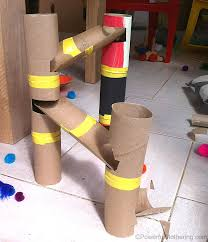 DIY Marble Run from Toilet Rolls | Diy crafts for kids easy, Diy ...