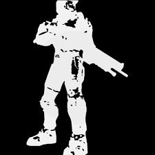 Halo Master Chief Legendary Symbol Decal Sticker