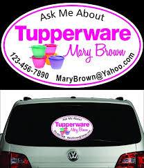 Tupperware Perforated Window Decal Oval Sizes Are 20 Inch And 30 Inch Small And Large Tupperware Window Decal Cars Trucks Vans Suv