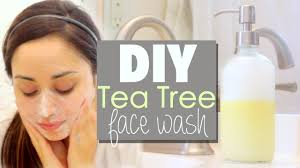 diy face cleanser tea tree face wash
