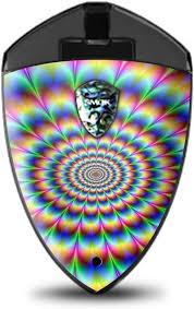 Amazon Com Skin Decal Vinyl Wrap For Smok Rolo Badge Vape Stickers Skins Cover Trippy Hologram Dizzy