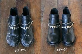leather shoes from sidewalk salt damage