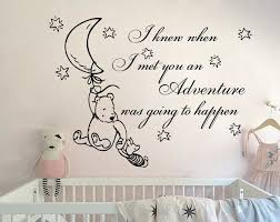 Wall Decals Quote Winnie The Pooh Vinyl Stickers Nursery Etsy Nursery Wall Decals Disney Baby Nurseries Winnie The Pooh Nursery