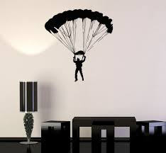 Vinyl Wall Decal Skydiver Parachutist Extreme Sport Skydiving Stickers Ig3445 Vinyl Art Stickers Vinyl Wall Art Vinyl Wall Decals