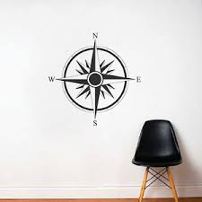 Direction Compass Decal Compass Wall Vinyls Explorers Wall Stickers B17 Ebay