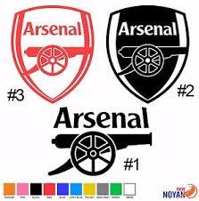 2x Arsenal English Soccer Club Logo Decal Vinyl Die Cut Sticker Ebay