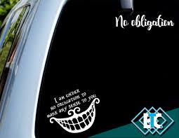 Disney Alice In Wonderland Cheshire Cat Vinyl Decal For Cars Trucks And Laptops Dom I Meble Naklejki Scienne I Fototapety A2btravel Ge