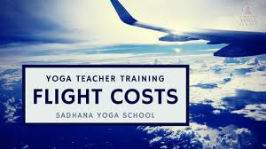 flight costs for yoga teacher