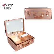 rose gold case makeup vanity box