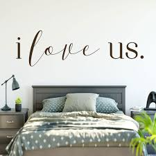 Amazon Com Love Wall Decal I Love Us Vinyl Sticker Bedroom Decor For Home Living Room Or Family Room Decoration Handmade