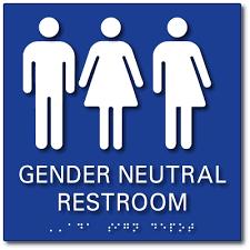 bathroom signs with all gender symbols