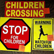 3 Ice Cream Truck Decals Children Crossing Stop For Children Warning Watch 45 00 Picclick