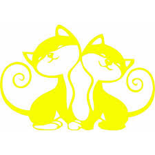 Sweet Kittens Pussy Cats Auto Car Bumper Window Vinyl Decal Sticker Decals Kitty Kondo