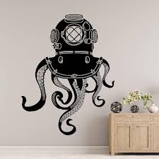 Octopus Tentacles Wall Decal Submarine Bathroom Home Decoration Vinyl Door Window Sticker Sea Animals Kraken Art Wallpaper E074 Wall Stickers Aliexpress