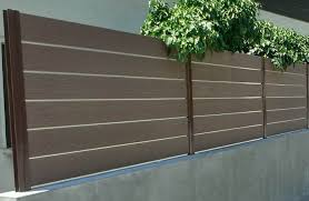 Horizontal Fence Wood Composite Material No Maintance Cost No Painting Or Oiling Roksal D O O