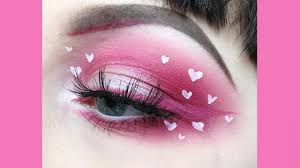 cute mini hearts valentines day makeup