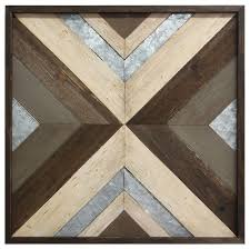 modern wood metal wall art
