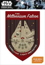 New Rogue One Millennium Falcon Window Decal Badge Available On Walmart Com