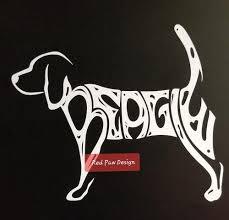 Beagle Red Paw Design