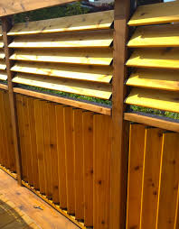 Flexfence Creation By Jason Bubba From Sudbury Ontario Louvered Panel Fence Building A Fence Deck Railings Backyard Fences