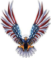 Amazon Com Bald Eagle American Flag Sticker Decal 6 X 6 75 Inch American Flag Decal 1 Pack Automotive