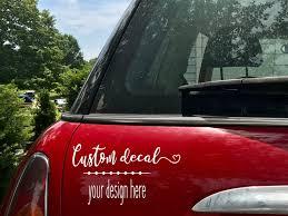 Custom Car Window Vinyl Decal Personalized Bumper Sticker Etsy