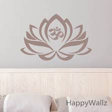 Lotus Flower Wall Sticker Lotus Wall Decal Flower Bedroom Wall Art Decors Lotus Flower Wallpaper Removable Wall Decoration M32 Lotus Wall Decal Wall Decorwall Art Decor Aliexpress