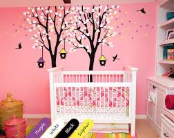 Baby Nursery Wall Decal Trees Birdhouses Mural Kids Room Sticker Kr024 Studioquee On Artfire