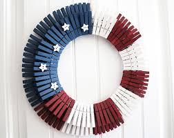 diy patriotic clothespin wreath just in