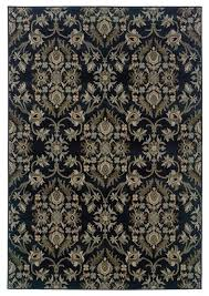 fl pattern area rug in navy and