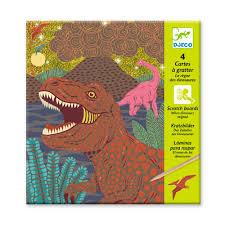 Laminas Para Raspar El Reino De Los Dinosaurios Djeco