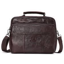 men genuine leather bag vintage totes