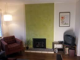 avocado green stucco italiano fireplace
