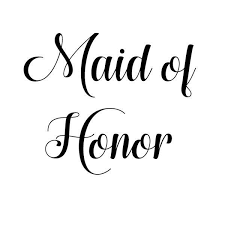 Maid Of Honor Vinyl Decal Sticker Wedding Bridesmaid Mr Mrs Bride Groom 332 Maid Of Honor Vinyl Decals Vinyl Decal Stickers