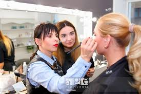 student makeup tutorial lesson