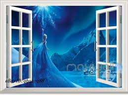 Disney Frozen Elsa Castle 3d Window Wall Decals Removable Stickers Kids Decor For Sale Online