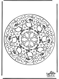 Mandala Winter 1 Kleurplaten Kerst