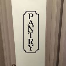 Amazon Com Pantry Vinyl Wall Decal By Wild Eyes Signs Pantry Decal Glass Door Decal Vinyl Lettering Rectangle Border Frame Sign Wall Sticker Vinyl Decal Hh2180 Handmade